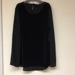 Faded Glory Long Sleeve Top Size L NWT